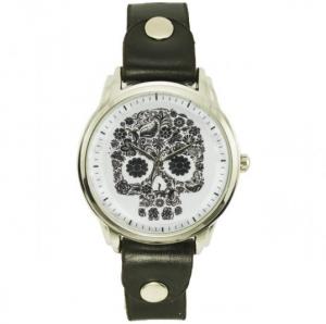 Подарок Наручные часы на эксклюзивном ремешке 'Череп'