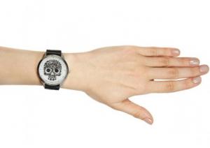 фото Наручные часы на эксклюзивном ремешке 'Череп' #2