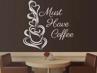 Подарок Виниловая наклейка на стену 'Must have coffee'