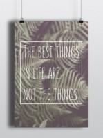 Подарок Постер 'The best things'