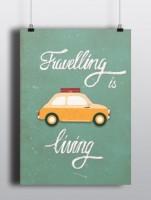 Подарок Постер 'Travelling is living'