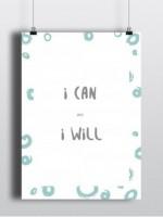 Подарок Постер 'I can'