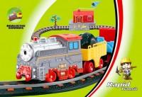 LiXin Железная дорога с поездом и вертолетом 66 х 36 см (9906)