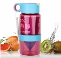 Подарок Уникальная бутылка для самодельного лимонада или цитрусовых напитков (фиолетовый) 450 мл