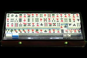 Подарок Азартная игра 'Маджонг' (в двух коробках, в комплекте столик)