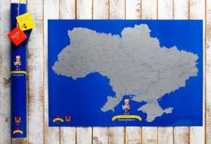 Подарок Скретч карта Украины My SuperUkraine Map