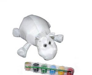 Подарок Мягкая игрушка-раскраска 'Бегемотик'