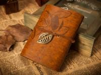 Подарок Винтажный блокнот (коричневый)