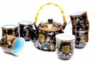 Подарок Набор посуды для чаепития 'Черная хризантема' (MTCJ027-2)