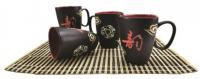Подарок Набор из 4 чашек 'Черный принц' (AC101406-S4)