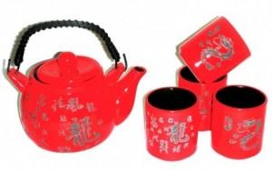 Подарок Набор посуды для чаепития 'Дракон Императора' (AA141776-R)