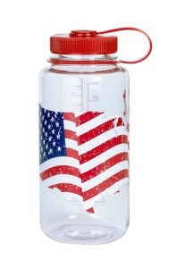 Подарок Спортивная бутылка для воды Nalgene 682016-0704 FLAG Bottle 1л