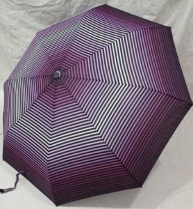 Подарок Зонт-полуавтомат Paolo (пурпурный в полоску)