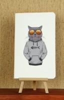 Подарок Тетрадь 'Hipster Cat. Рыбак'