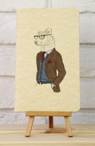 Подарок Тетрадь 'Hipster. Медведь'