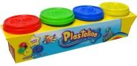 Масса для лепки Plastelino 4 цвета