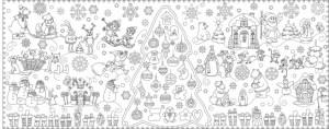 Подарок Обои-раскраски 'Новогодняя Сказка' (60 х 150 см)