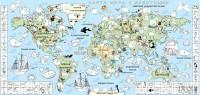 Подарок Обои-раскраски 'Карта мира с мультиками' (60 х 125 см)
