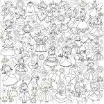 Подарок Обои-раскраски 'Принцессы и Феи' (60 х 60 см)