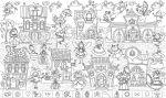 Подарок Обои-раскраски 'Загадки Феи' с наклейками (60 х 100 см)