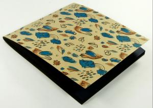Тетрадь 'Бирюзово-шоколадные птички'