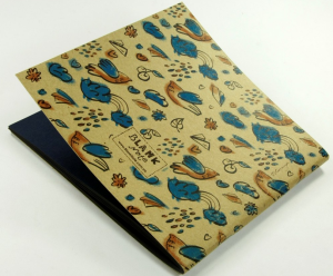 фото Тетрадь 'Бирюзово-шоколадные птички' #3