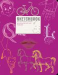 Книга Скетчбук 'SketchBook' (малиновый)