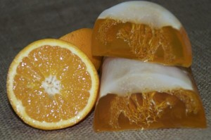 Подарок Натуральне мило 'Апельсин з люфою'