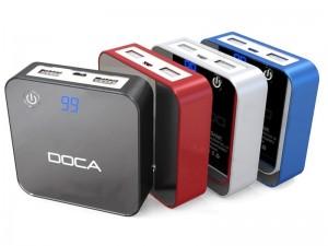 фото Внешнее зарядное устройство Power Bank DOCA D525 (8400mAh), чёрный #3