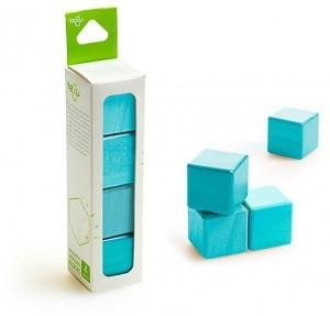 Набор из 4 кубиков (голубой)
