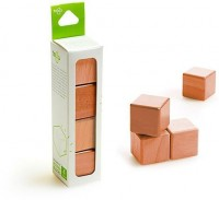 Набор из 4 кубиков (красное дерево)
