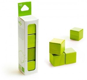Набор из 4 кубиков (зеленый)