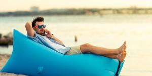 фото Надувной диван голубой (Lamzac) #6