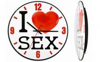 Подарок Часы настенные Монтрэ 'I Love Sex'