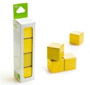 Набор из 4 кубиков (желтый)