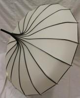 Зонт-трость 'Радуга' купольный (белый)