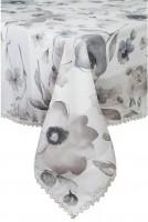 Скатерть Прованс 'Flowers' с кружевом 120 х 140 см
