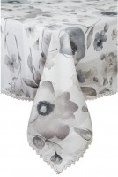 Скатерть Прованс 'Flowers' с кружевом 180 х 140 см