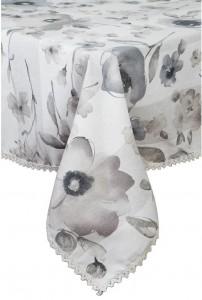 Скатерть Прованс 'Flowers' с кружевом 220 х 140 см