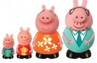 Набор игрушек брызгунчиков Peppa 'Семья Пеппы' (4 фигурки)