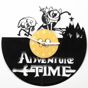 Настенные часы из винила Adventure time