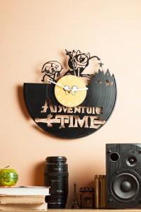 фото Настенные часы из винила Adventure time #3