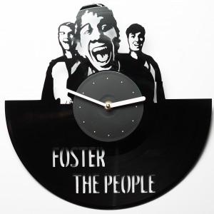Подарок Настенные часы из винила Foster the People