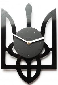 Подарок Настенные часы из винила Тризуб