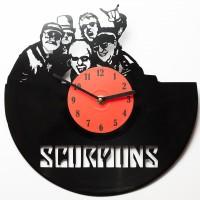 Подарок Настенные часы из винила Scorpions