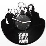 Подарок Настенные часы из винила System of a down