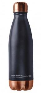 Подарок Термо-бутылка Asobu SBV175 Insulated Stainless Steel Water Bottle Black Copper 500 мл