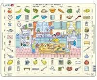 Пазл-вкладыш Larsen 'Учим английский. Кухня' (EN1)