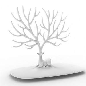 Подарок Органайзер для украшений и аксессуаров Qualy 'My Little Deer' белый (QL10171-WH)