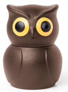 Стоппер для бутылки Qualy 'Owl Stopper' коричневый (QL10219-BN)